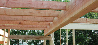 Step 3:  Heavy timber second floor framing